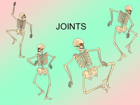 JOINTS. Objectives Identify the bones that articulate at different joints in the body. Name the 6 types of synovial joint and give examples of each. Describe.