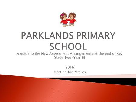 A guide to the New Assessment Arrangements at the end of Key Stage Two (Year 6) 2016 Meeting for Parents.