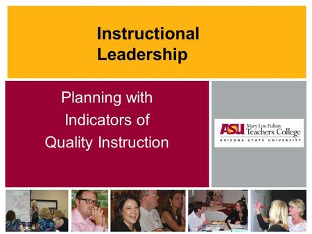 Instructional Leadership Planning with Indicators of Quality Instruction.