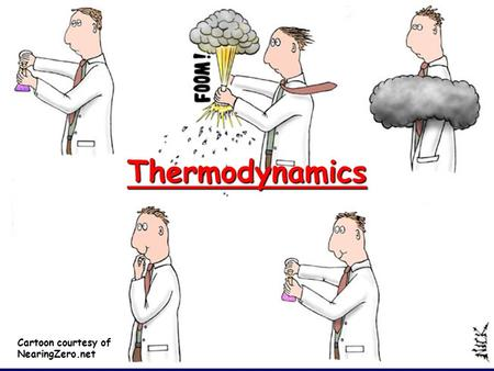 Thermodynamics Cartoon courtesy of NearingZero.net.