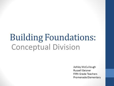 Building Foundations: