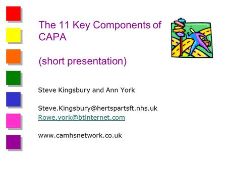 The 11 Key Components of CAPA (short presentation) Steve Kingsbury and Ann York