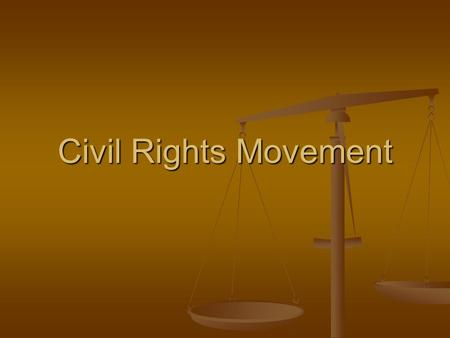 Civil Rights Movement. Definitions Civil Disobedience-Refusal to obey civil laws in an effort to induce change in governmental policy or legislation,