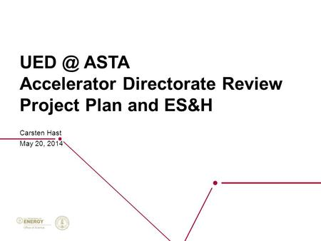 ASTA Accelerator Directorate Review Project Plan and ES&H Carsten Hast May 20, 2014.