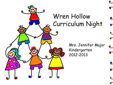 Wren Hollow Curriculum Night Mrs. Jennifer Major Kindergarten 2012-2013.
