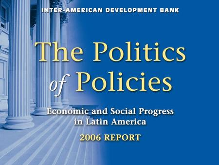"Motivation Economists, IFIs emphasize policy recipes to achieve development goals. In Latin America this has led to adoption of ""Washington Consensus"""