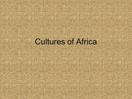 Cultures of Africa. Bantu People Location of the Bantu They make up 2/3 of Africa's population Originally, they resided in the country of Cameroon. Bantu.