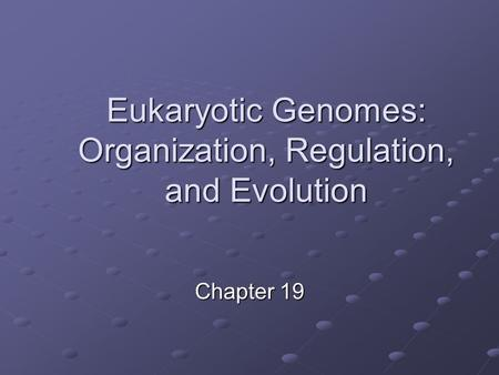 Chapter 19 Eukaryotic Genomes: Organization, Regulation, and Evolution.