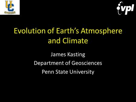 Evolution of Earth's Atmosphere and Climate