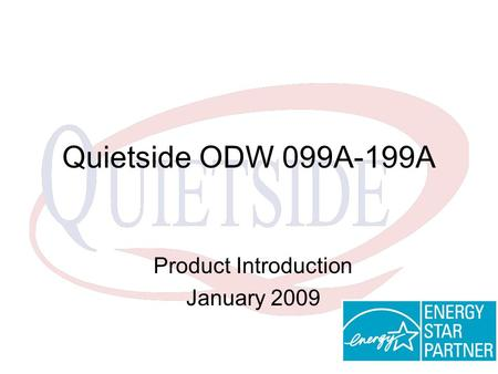 Product Introduction January 2009
