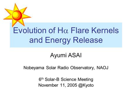 Evolution of Ha Flare Kernels and Energy Release