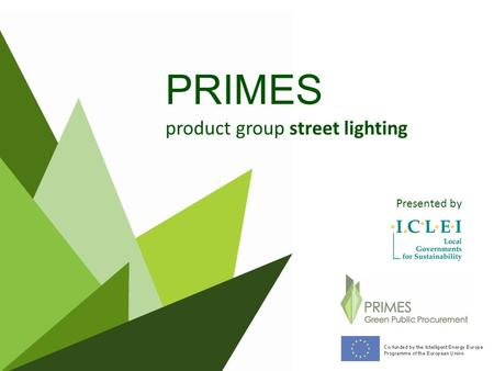 PRIMES product group street lighting Presented by.