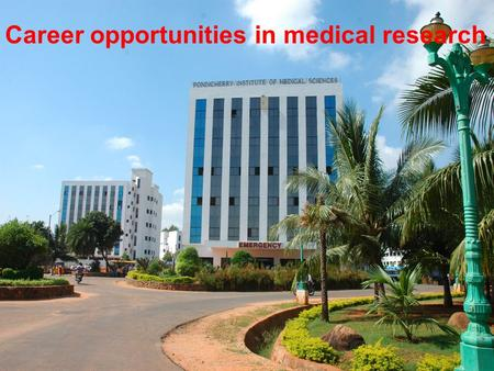 Career opportunities in medical research. Basic research.