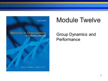 1 Module Twelve Group Dynamics and Performance. 2 Advantages and disadvantages of teams vs. individual tasks + More information and knowledge + More motivating.