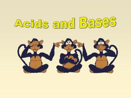 Acid/Base Properties In the past, we have classified acids and bases according to their observed properties ACIDS BASES Sour tastebitter taste Watery.