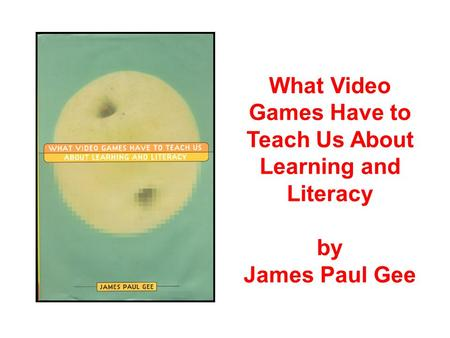 what is literacy james gee