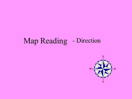 Map Reading - Direction.