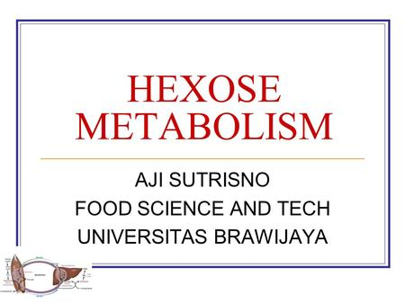 AJI SUTRISNO FOOD SCIENCE AND TECH UNIVERSITAS BRAWIJAYA