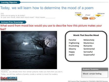 Today, we will learn how to determine the mood of a poem