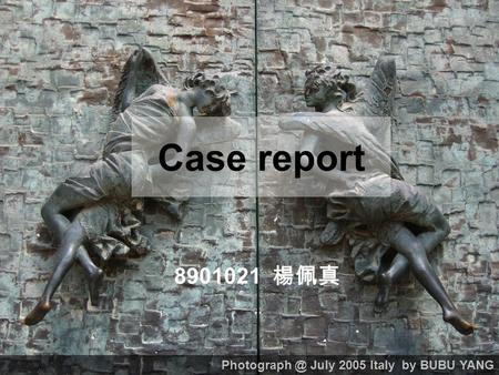 Case report 8901021 楊佩真 July 2005 Italy by BUBU YANG.