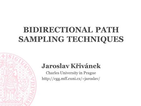 Bidirectional Path Sampling Techniques
