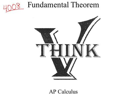 Fundamental Theorem AP Calculus. Where we have come. Calculus I: Rate of Change Function.