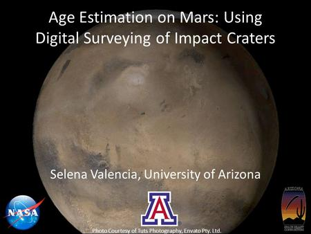 Age Estimation on Mars: Using Digital Surveying of Impact Craters