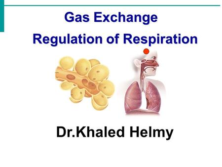 Gas Exchange Regulation of Respiration Regulation of Respiration Dr.Khaled Helmy.