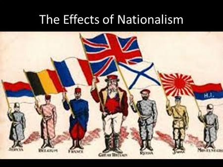 The Effects of Nationalism. Italian Unification Giuseppe Mazzini – Unite Italy Kingdom of Sardinia – Most powerful city-state Camillo di Cavour – Napoleon.