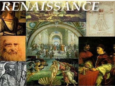 The Italian Renaissance  Renaissance rebirth  Italian Renaissance rebirth of ancient Greek and Roman worlds  Characteristics  Secular Urban Society.