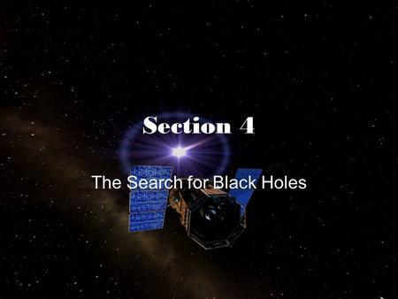 The Search for Black Holes