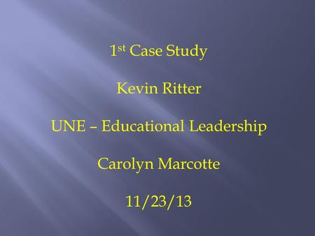 Leadership Case Studies