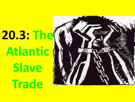 20.3: The Atlantic Slave Trade. What happened to the natives that were used as slaves?