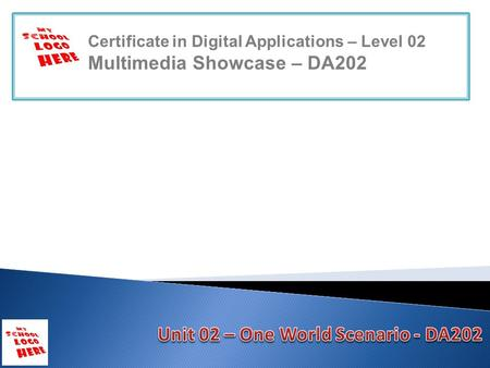 Certificate in Digital Applications – Level 02 Multimedia Showcase – DA202.