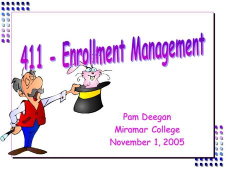 Pam Deegan Miramar College November 1, 2005. Agenda  Definitions  Productivity  Faculty Load, Contractual Obligations Contractual Obligations  Scheduling.