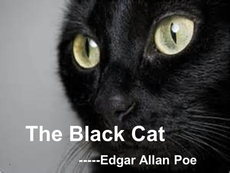 1 The Black Cat -----Edgar Allan Poe. 2 Edgar Allan Poe The Black Cat My Reading Experiences Discussion.