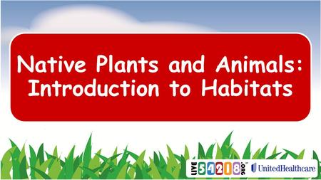 Native Plants and Animals: Introduction to Habitats.