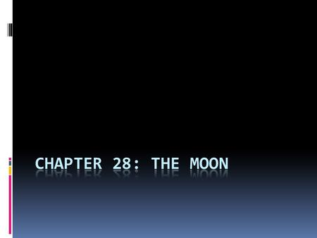 Chapter 28: The Moon.