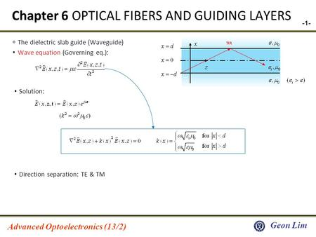 Chapter 6 OPTICAL FIBERS AND GUIDING LAYERS