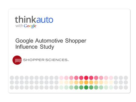 Google Automotive Shopper Influence Study. Google Confidential and Proprietary Decision making model 2 First Moment of Truth Second Moment of Truth Stimulus.