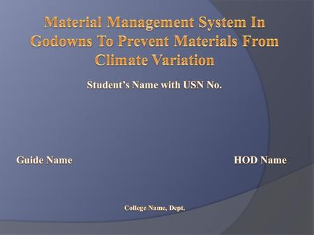 Student's Name with USN No.