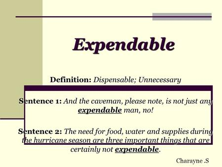 Definition: Dispensable; Unnecessary