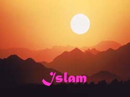 Islam. Deserts There is only a small strip of fertile land in south of Saudi Arabia Few oases The rest is Desert.