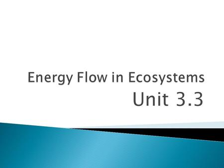 "Unit 3.3.  What happens to energy stored in body tissues when one organism eats another?  The energy moves from the ""eaten"" to the ""eater"". Where the."