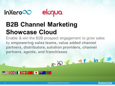 1 All rights reserved. © 2012 InXero Inc. B2B Channel Marketing Showcase Cloud Enable & win the B2B prospect engagement to grow sales by empowering sales.