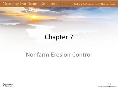 Chapter 7 Nonfarm Erosion Control 7-1. Introduction Soil is also disturbed by home building, industrial expansion, urban construction, highway construction,