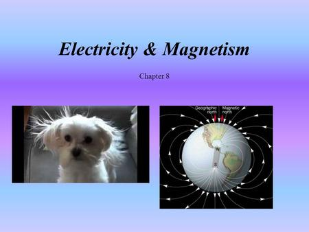 Electricity & Magnetism Chapter 8. Student Learning Objectives Recall properties of charge Characterize static electricity Differentiate between series.