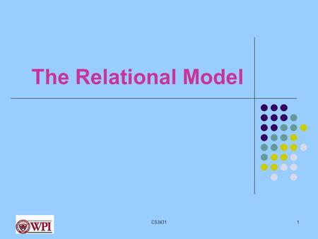 CS34311 The Relational Model. cs34312 Why Relational Model? Currently the most widely used Vendors: Oracle, Microsoft, IBM Older models still used IBM's.