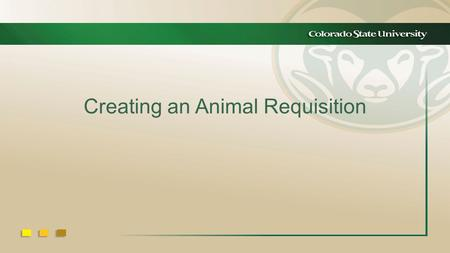 Creating an Animal Requisition. Enter Login ID and Password.