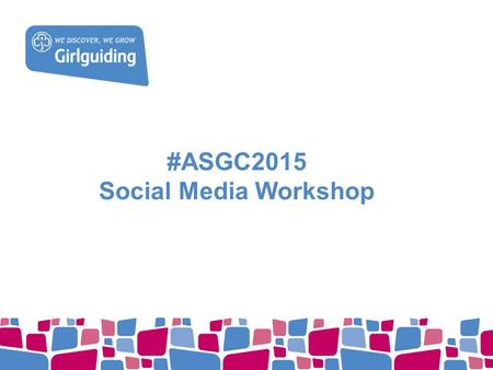 #ASGC2015 Social Media Workshop